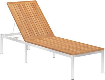 vidaXL Sunbed in Teak Wood and Steel