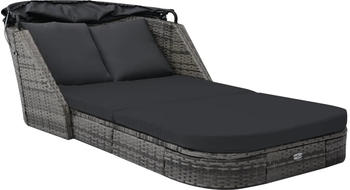 vidaXL Garden Bed With Markise in Anthracite Resin