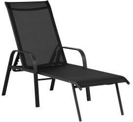 Uniprodo Sonnenliege 187x60x70cm schwarz