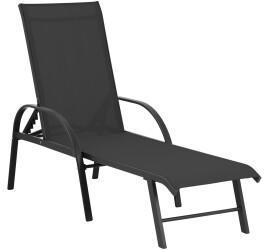 Uniprodo Sonnenliege 195x59x52cm schwarz