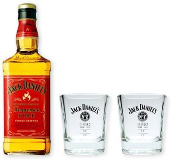 Jack Daniels Tennessee Fire mit 2 Gläsern 0,7l 35%