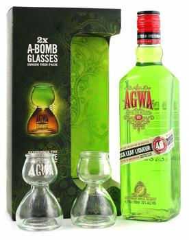AGWA De Bolivia 0,7l 30% Geschenkset mit Gläsern