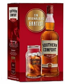 Southern Comfort 0,7l 35% in Geschenkpackung mit Glas