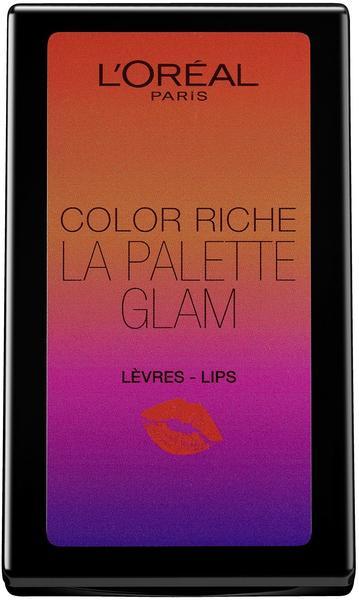 LOréal Paris Color Riche La Palette Glam Lips, 1er Pack (1 x 7 g)