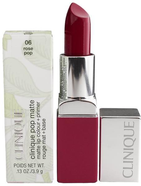Clinique Pop Matte Lip Colour + Primer - 06 Rose Pop (3,9 g)
