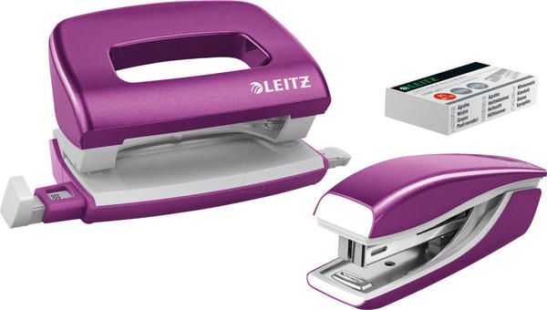Leitz NeXXt WOW Locher-Tacker-MiniSet lila metallic (556120-62)