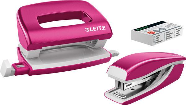 Leitz NeXXt WOW Locher-Tacker-MiniSet pink metallic (5561-20-23)