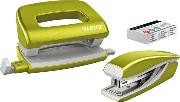 Leitz NeXXT WOW Locher-Tacker-MiniSet grün metallic ( 5561-20-64)