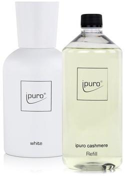 iPuro White Flakon + Cashmere Refill (1000ml)