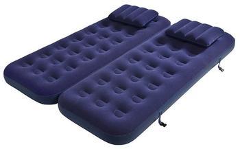 Jilong 3-in-1 CB - Luftbett mit Kissen für 2 Personen oder hohes single Luftbett, 2 Betten á 191x73x22