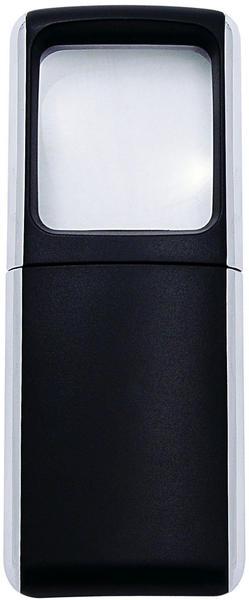 Wedo Lupe eckig beleuchtet 3x schwarz