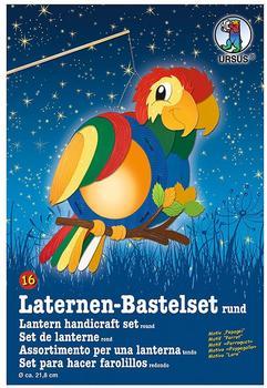 Ursus Laternen-Bastelset rund - Papagei