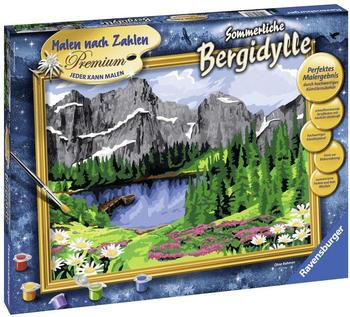 Ravensburger Malen nach Zahlen Premium Sommerliche Bergidylle