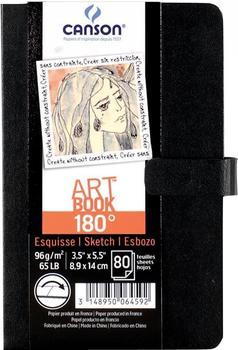 Canson Skizzenbuch 180° Hardcover 96g/qm 80 Blatt 9,9x14 cm