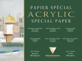 Clairefontaine Acrylblock 360g/qm 10 Blatt 42x56 cm