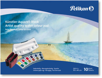 Pelikan Künstler-Aquarell-Block 30 x 40 cm FT3 10 Blatt