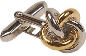Seidensticker Manschettenknöpfe Knoten silber/gold (SE41.041)