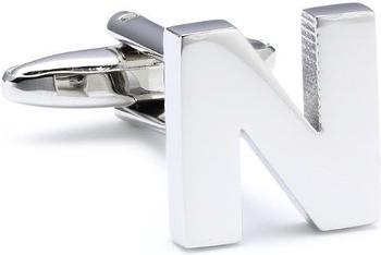 Teroon Unisex-Manschettenknopf Buchstaben Initialen N (608617)