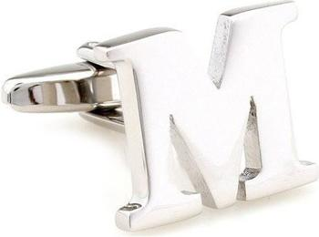 Teroon Unisex-Manschettenknopf Buchstaben Initialen M (608587)
