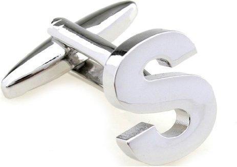 Teroon Unisex-Manschettenknopf Buchstaben Initialen S (608716)
