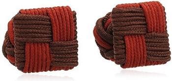 Teroon Unisex-Manschettenknopf Seidenknoten rot bordeaux (610207)