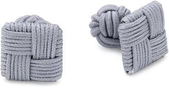 Teroon Unisex-Manschettenknopf Seidenknoten grau (610054)