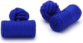 Teroon Unisex-Manschettenknopf Seidenrolle blau (610351)