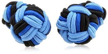 Teroon Unisex-Manschettenknopf Seidenknoten blau schwarz (609997)