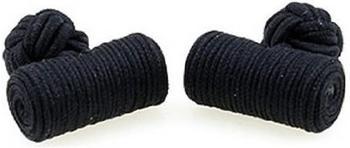 Teroon Unisex-Manschettenknopf Seidenrolle schwarz (610528)