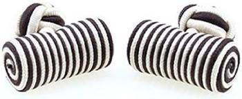 Teroon Unisex-Manschettenknopf Seidenrolle schwarz weiß (610566)