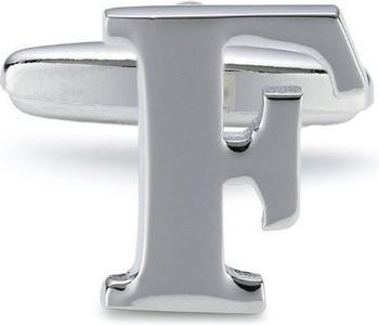 Teroon Unisex-Manschettenknopf Buchstaben Initialen F (608440)