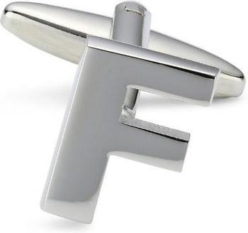Teroon Unisex-Manschettenknopf Buchstaben Initialen F (608457)