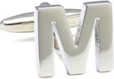 Teroon Unisex-Manschettenknopf Buchstaben Initialen M (608594)