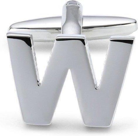 Teroon Unisex-Manschettenknopf Buchstaben Initialen W (608792)