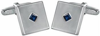 Grom Manschettenknöpfe Zirkonia-Einlage Silber (614793)