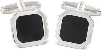 Grom Manschettenknöpfe Silber Onyx (614823)