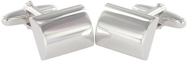 Grom Gravur Manschettenknöpfe Silber konvex (616148)