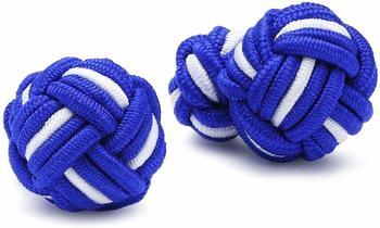 teroon-unisex-manschettenknopf-seidenknoten-blau-weiss-610009