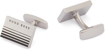 Hugo Boss Rechteckige Manschettenknöpfe aus Messing mit Verlaufsstreifen (50434255) silber