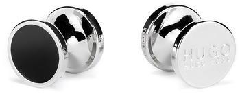 Hugo Runde Manschettenknöpfe aus Zink mit Emaille-Detail (50316087) schwarz