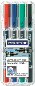 Staedtler Lumocolor Permanent duo Marker 4er Set