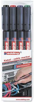 edding Kabelmarker 0,3 mm (4er farbig sortiert)