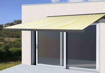 Mendler T122 Polyester 400 x 300 cm anthrazit gelb/weiß