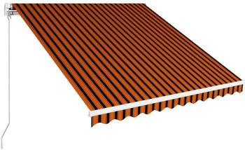 vidaXL Manual Retractable Awning 300x250 cm orange/brown