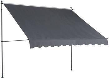 Empasa Ilanga 300x120cm anthrazit gestreift (66743)