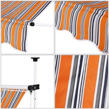 Detex Klemmmarkise 150x180cm orange/blau