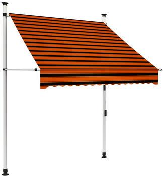 vidaxl-einziehbare-markise-150-cm-orange-braun-145835