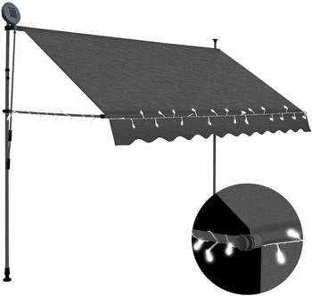 vidaXL Einziehbare Markise LED 250 cm anthrazit (145865)