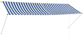 vidaXL Einziehbare Markise 350 x 150 cm blau/weiß (143750)