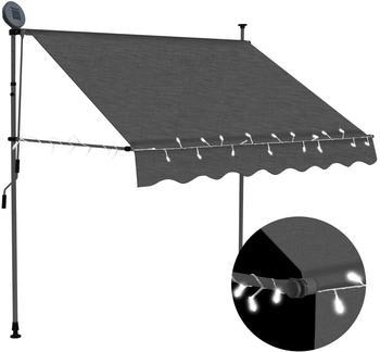 vidaXL Einziehbare Markise LED 150 cm anthrazit (145863)